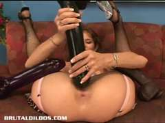 Fat-Breasted Babe Felony Fills Her Pussy With A Monster Faux-hard-on