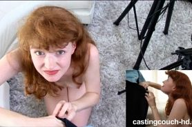 Amateur Redhead With Perfect Rack Sucks