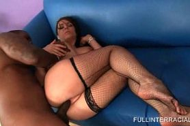 Hottie In Stockings Gets Pussy Banged Black