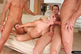 Skilled Escort Blonde Can Handle Three Cocks In A Hotel